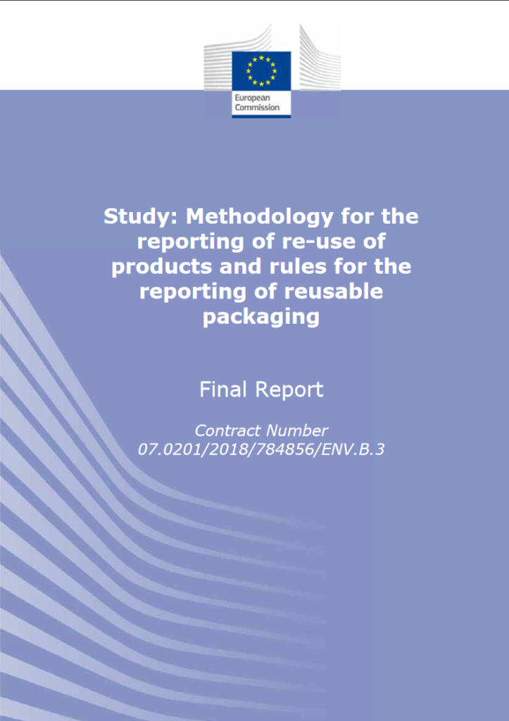 cover page of the report on reuse of products and the reuse of packaging; Report for the European Commission DG.ENV